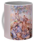 Harvesters Breakfast Coffee Mug by Pierre-Auguste Renoir