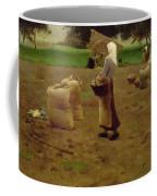 Harvesting Potatoes Oil On Canvas Coffee Mug