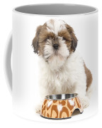 Havanese With Dog Bowl Coffee Mug