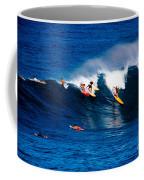 Hawaii Oahu Waimea Bay Surfers Coffee Mug by Anonymous