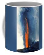 Hawaii Pu U O O Vent Diminishing Lava Eruption At End Of Phase Coffee Mug