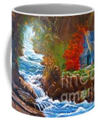 Hawaiian Hut By Rushing Waters Coffee Mug