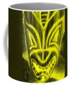 Hawaiian Mask Negative Yellow Coffee Mug