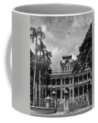 Hawaii's Iolani Palace In Bw Coffee Mug