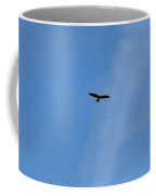 #hawk #harrier #soaring High On Blue Sky #minimalism Coffee Mug