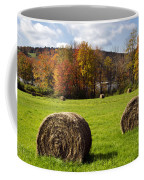 Hay Bales And Fall Colors Coffee Mug