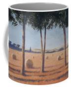 Hay Bales And Pines, Pienza, 2012 Acrylic On Canvas Coffee Mug