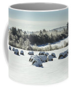 Hay Bales Covered With Snow And Ice In Maine Coffee Mug
