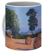 Hay-bales In Evening Light Coffee Mug