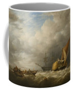 Hay Barges In The Thames Estuary Coffee Mug by Alfred Herbert