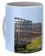 Hay Wagon In Field Coffee Mug