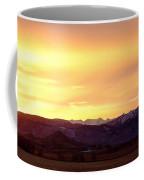 Haystack Rocky Mountain Front Range Sunset Panorama Coffee Mug