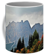 Haze And The Dolomites Coffee Mug