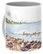 Hazy Morning At Crab Cove In Alameda California Coffee Mug