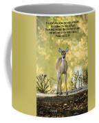 He Makes My Feet Like The Feet Of Deer Coffee Mug by Kathy Clark