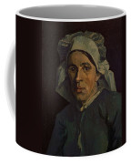 Head Of A Peasant Woman With White Cap Coffee Mug