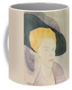 Head Of A Woman Wearing A Hat Coffee Mug