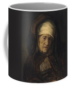 Head Of An Aged Woman Coffee Mug by Rembrandt