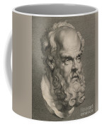 Head Of Socrates Coffee Mug by Anonymous