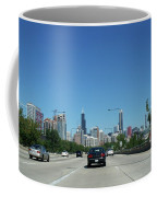 Heading North On Lake Shore Drive In Chicago Coffee Mug