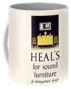 Heals Sound Furniture Advertisement Coffee Mug