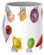 Healthy Food Border On White Coffee Mug