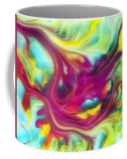 Heart Attack Watercolor Abstraction Painting Coffee Mug