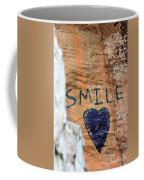 Heart In Sandstone Mountain Coffee Mug