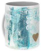 Heart In The Sand- Abstract Art Coffee Mug