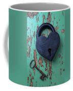 Heart Lock And Key Coffee Mug