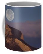 Heart Mountain And Full Moon-signed-#0325 Coffee Mug