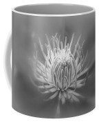 Heart Of A Red Clematis In Black And White Coffee Mug