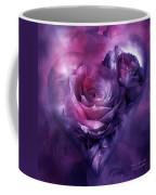 Heart Of A Rose - Burgundy Purple Coffee Mug