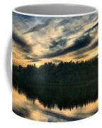 Heart Pond Sunset Coffee Mug