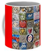 Heart Shape Collage  Coffee Mug