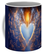 Heart Shape On Sunset Sky Coffee Mug