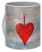 Heart Shape Textured Coffee Mug