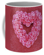 Heart-shaped Floral Arrangement Coffee Mug