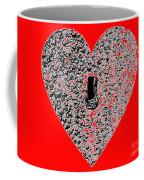 Heart Shaped Lock - Red Coffee Mug