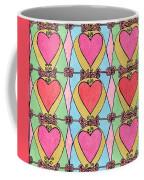 Hearts A'la Stained Glass Coffee Mug