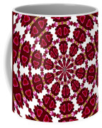 Hearts And Orchids Kaleidoscope Coffee Mug