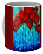 Hearts On Fire - Romantic Art By Sharon Cummings Coffee Mug
