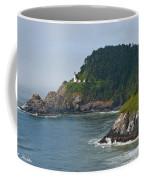 Heceta Head Overlooking The Pacific Ocean Coffee Mug