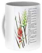 Heliconia Poem Coffee Mug