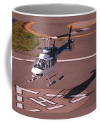 Helicopter Landing In Victoria, British Columbia Coffee Mug