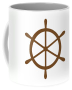 Helm In Brown And White Coffee Mug