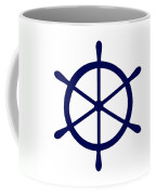 Helm In Navy Blue And White Coffee Mug