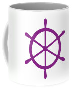 Helm In Purple And White Coffee Mug