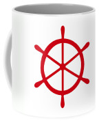 Helm In Red And White Coffee Mug