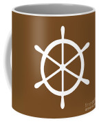 Helm In White And Brown Coffee Mug